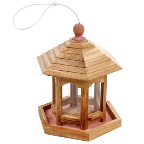 mangeoire a oiseau mangeoire gazebo cedre l20xl20xh24 cm mangeoires