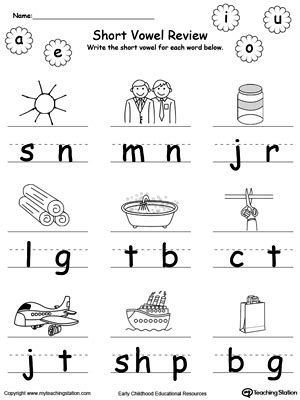 vowel review write missing vowel
