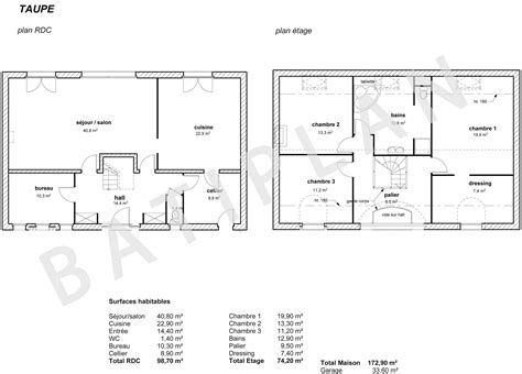 plans et permis de construire notre plan de maison taupe