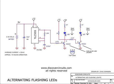 Wig Wag Led Flasher Light Circuit