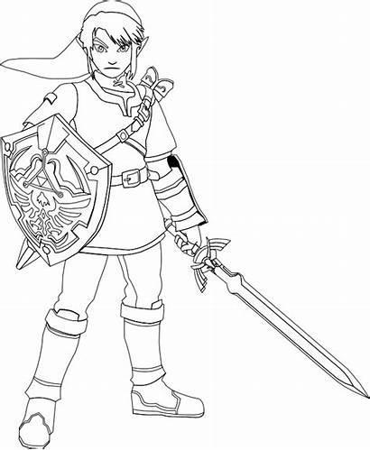 Zelda Coloring Legend Link Ausmalbilder Sword Master