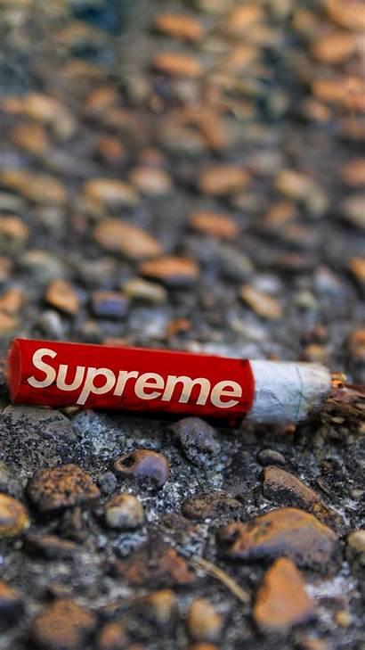Supreme Iphone Pantalla Fondos Wallpapers Fondo Cigarette