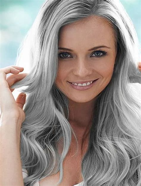 chic long layered grey hairstyles for women over 40