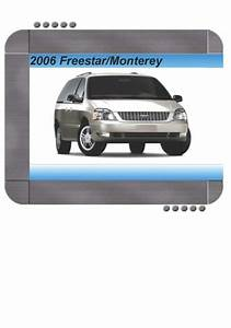 Ford Freestar  Mercury Monterey 2006 Factory Service