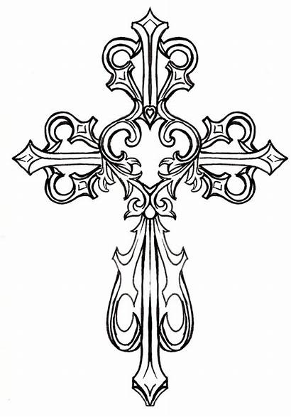 Cross Vector Clip Clipart Clker Crosses Printable