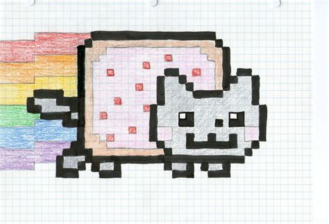 nyan cat drawing  cyber  deviantart