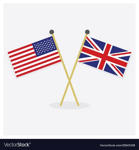 British And Us Flags Together - About Flag Collections