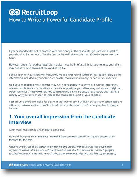 how to write a career profile essay