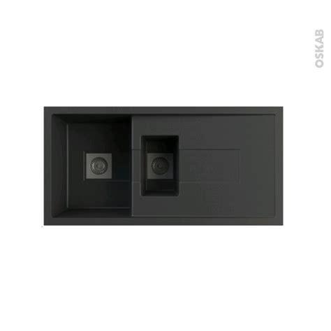 Evier De Cuisine Sigma Granit Noir 1 Bac 12 égouttoir à