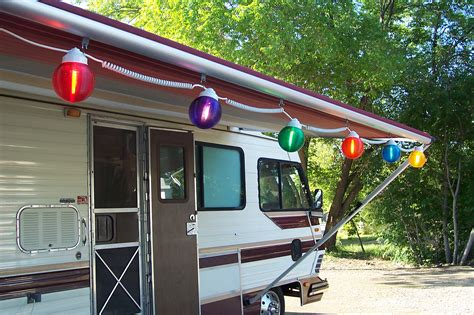 rv patio awning lights modern patio outdoor
