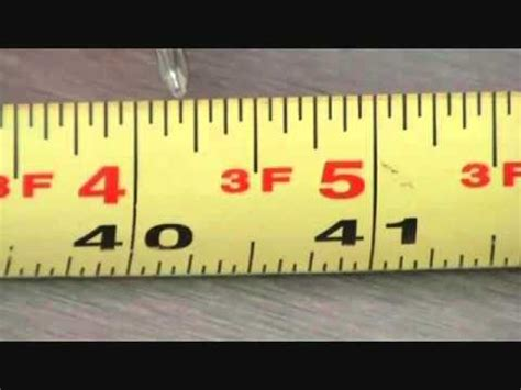 Tips On Reading A Tape Measure Youtube
