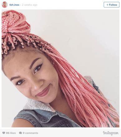 stunning   colored box braids  summer