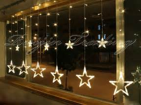 12 twinkling stars warm white christmas fairy string lights window display 48led ebay