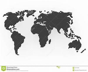 Carte Du Monde Noir : gris de noir de carte du monde illustration stock ~ Teatrodelosmanantiales.com Idées de Décoration