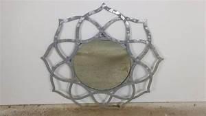 Designer Wandspiegel Groß : spiegel wandspiegel gro silber 88 cm alu deko rund orientalisch design indien ebay ~ Orissabook.com Haus und Dekorationen