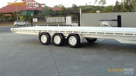 Boat Trailer Wheels Brisbane by Mcneilltrailers 9m By 2 3 Tri Axle Trailer For Sale In