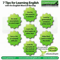 7 Tips For Learning An English Word Every Day  Woodward English