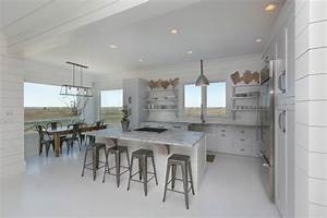White Kitchen - Granite White Countertops - White Floor