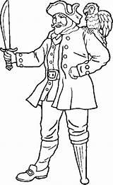 Pirate Leg Peg Coloring Template Legged sketch template