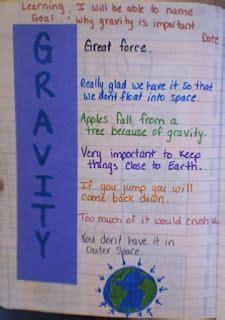 cute acrostic gravity poem science notebooks gravity