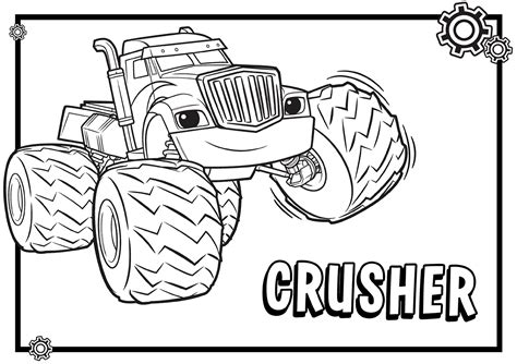 Kleurplaat Blaze by Blaze And The Machines Coloring Pages
