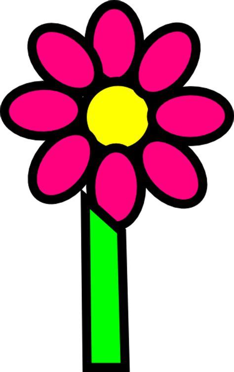 pink flower  stem clip art  clkercom vector clip