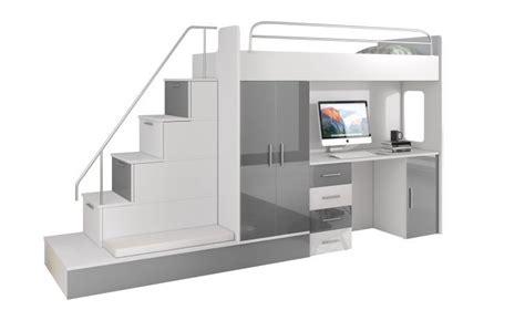 lit bureau adulte escalier avec rangement pour lit mezzanine 20170905100407