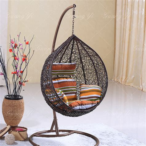 rattan outdoor nest basket swing hanging chair