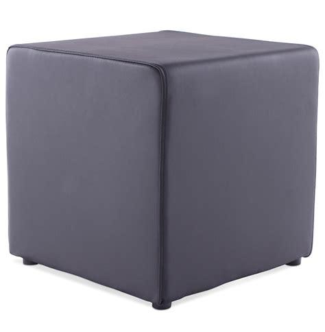 meubles de bureau bruxelles pouf cube de salon en similicuir noir pouf design