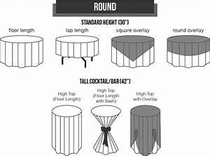 Table Chart Linen Sizing Guide Sizing Chart Mosaic Inc