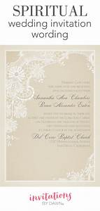 spiritual wedding invitation wording invitations by dawn With wedding invitation god images