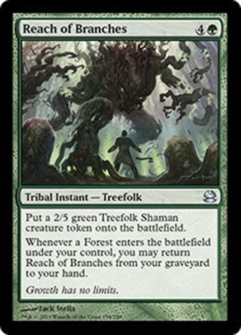 Mtg Treefolk Deck Modern by Reach Of Branches Modern Masters Gatherer Magic The