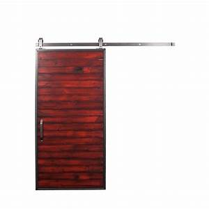 rustica hardware 42 in x 84 in mountain modern barn red With 42 inch barn door hardware