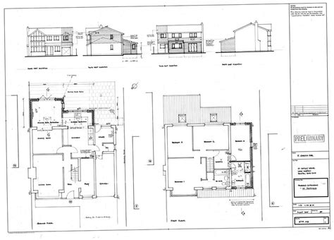 Garage Extension Plans - single storey garage extension extensions in