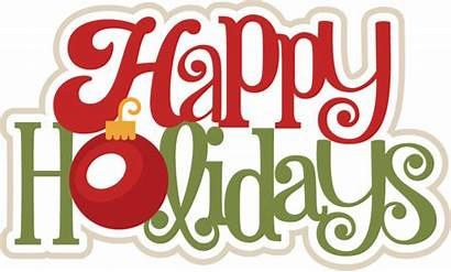 Happy Holidays Title Christmas Svg Scrapbook Clip