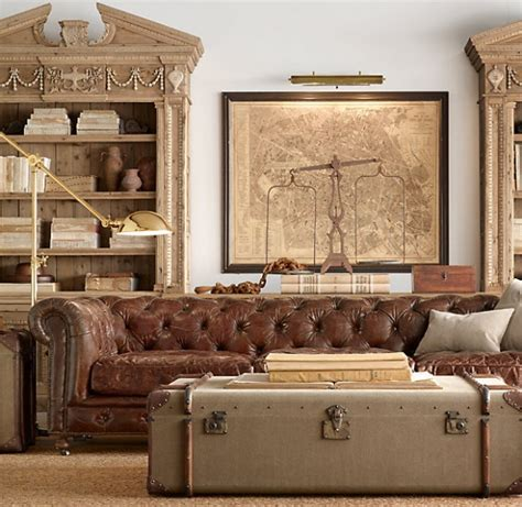restoration hardware chesterfield sofa eye for design decorate with the chesterfield sofa for
