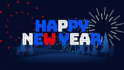 Happy New Year 2021 Animated Fireworks Title Animations