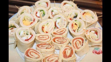 fingerfood rezepte kalt einfach schnell wraplollies fingerfood buffet geburtstag
