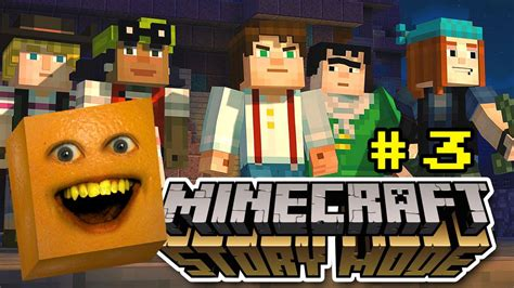 annoying orange plays minecraft story mode  pig butts