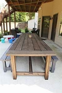 nice wood patio table Diy Patio Table Ideas - WoodWorking Projects & Plans