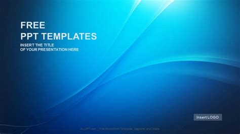 blue wave abstract powerpoint templates