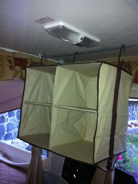 pop  camper hanging shelves note hooks  ceiling dowel camping vacations camping