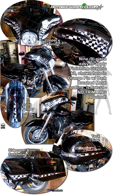Davidson Vinyl Graphics by Harley Davidson Glide Graphics Kit 3 Finishline