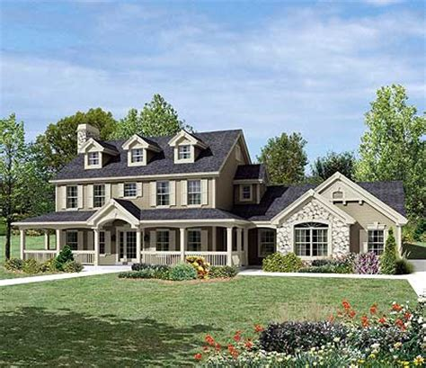 fabulous countryside home plan ha architectural
