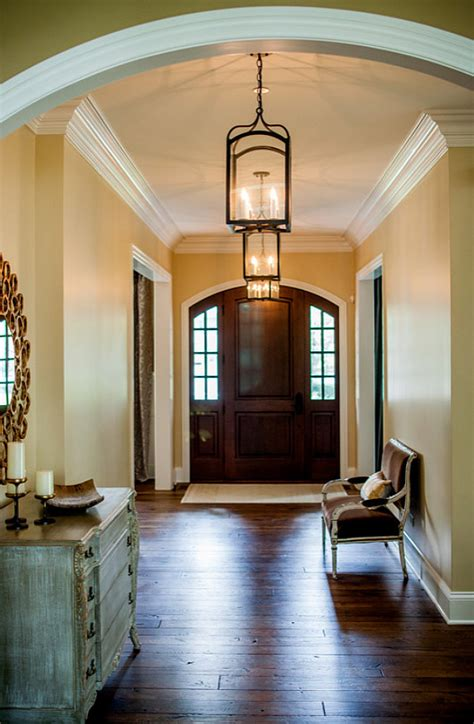 Foyer Paint by Transitional Family Home With Neutral Interiors Home