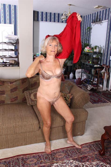 Sexy Granny Nancy Show Her Hairy Pussy Granny Seduction