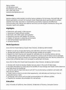 backup administrator resume template best design tips With resume storage software