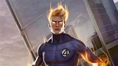Human Torch Wallpapers 4k Superheroes Marvel Artstation