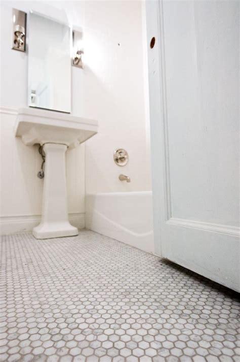 rebuilding  brooklyn bathroom hexagon tile bathroom