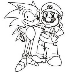Mario and Sonic Coloring Pages